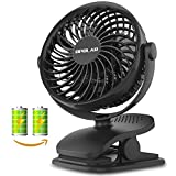 OPOLAR Rechargeable Clip on Fan, USB or Battery (Come with...