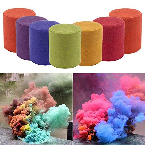 Smoke Color - Mandorra 7pcs 4 Color Smoke Colorful Effect Show Round Stage Photography Aid Toy KSOP Fog
