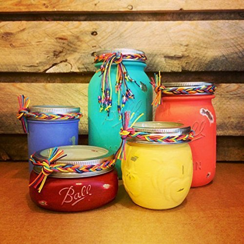 5 Piece Mason Jar Desk Set Boho Chic Desk Set Rustic Office Decor Mason Jar Bathroom Set Mason Jar Office Organizer Mason Jar Bathroom