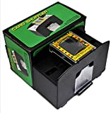 #6: Casino Deluxe Automatic 1-2 Deck Card Shuffler Poker Shuffling Machine, Battery Operated, For Taxes Hold em Black Jack