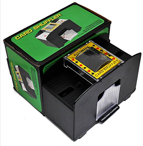 Casino Deluxe Automatic 1-2 Deck Card Shuffler Poker Shuffling Machine, Battery Operated, For Taxes Hold em Black Jack by CAFOLO