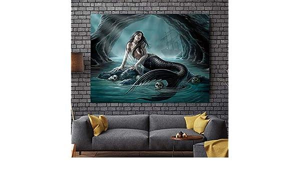 RTCKF Mermaid Poster Painting Art Family Canvas Print Art ...
