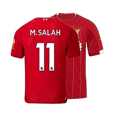 8edb3bd85 Mens M. Salah Jersey 11 Home 2019/20 Adult Soccer Liverpool Sizes Red (