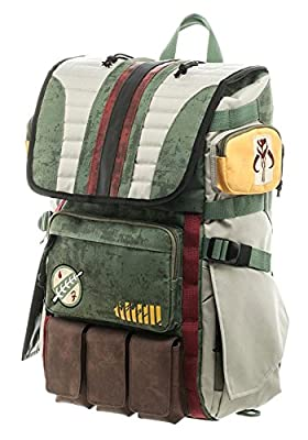 Star Wars Boba Fett Mandalorian Suit Up Laptop Backpack