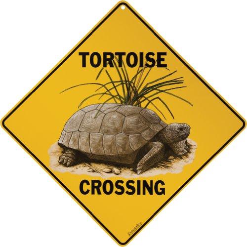 Tortoise Crossing 12 Aluminum Sign product image