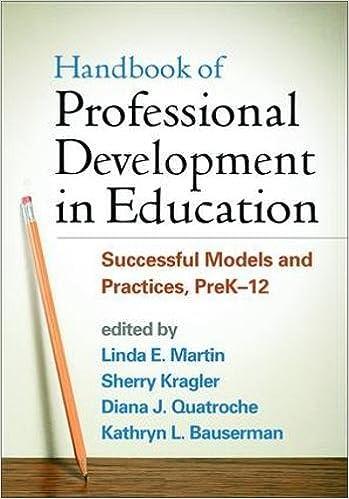 Handbook Of Professional Development In Education Successful Models
