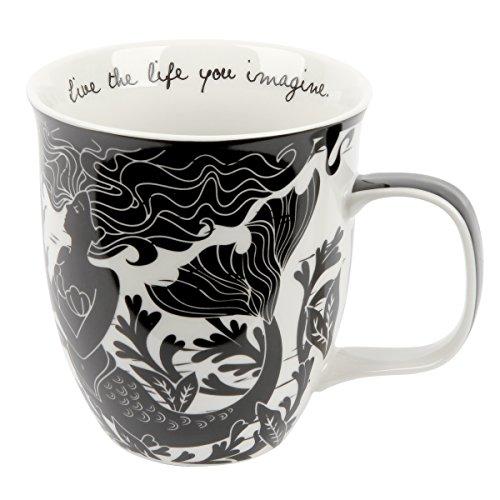 Karma Gifts Boho Black & White Mug, Mermaid