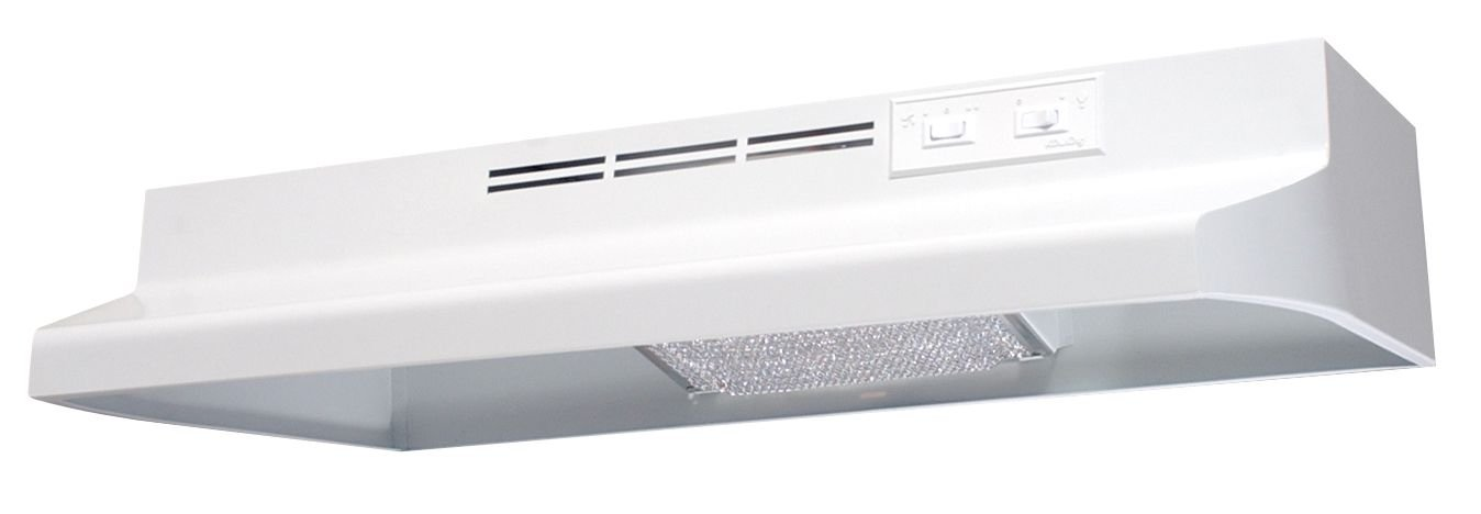 Air King AV1303 Advantage Convertible Under Cabinet Range Hood with 2-Speed Blower and 180-CFM, 7.0-Sones, 30-Inch Wide, White Finish