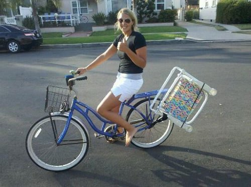 Ordinaire Amazon.com : Beach Cruiser Bike Caddy Sports Equipment Chair Holder  Accessory : Sports U0026 Outdoors