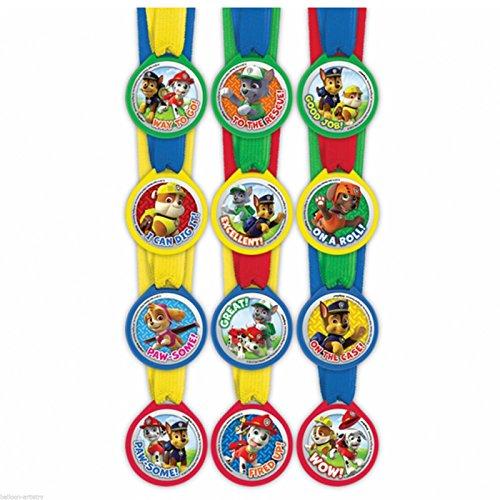 Paw Patrol Mini Award Medals, 12 per package