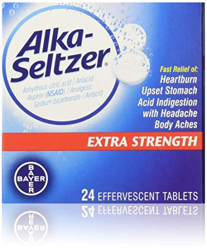 (Alka-Seltzer Effervescent Extra Strength - 24 Tablets, Pack of 3)