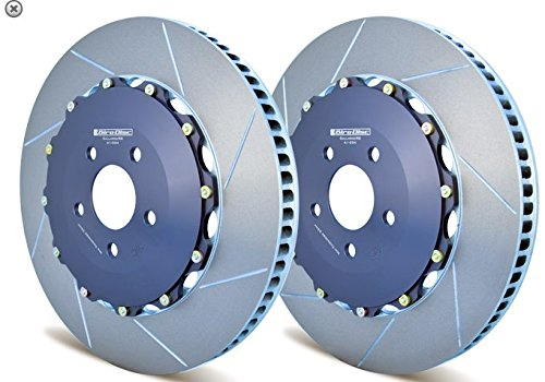Girodisc 2-piece floating slotted Front Rotors for C7 Corvette Z06 (Steel)
