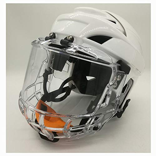 TECHLINK Hockey Players Helmet Face Mask Protective GearIce Hockey Mask Helmet Hockey Helmet Steel Combo Cage Strong Impact Resistance,M]()