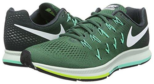 Nike Air Zoom Pegasus 33, Zapatillas de Running Para Hombre Verde (Green Stone/White-Seaweed-Green Glow)