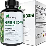 Cheap Natural Raw Green Coffee Bean Extract – Extra Strength Pure Premium Antioxidant Beans – 800 mg Max Fat Burner Supplement + Super Cleanse Pills for Weight Loss Benefits + Reviews – Nature Berg