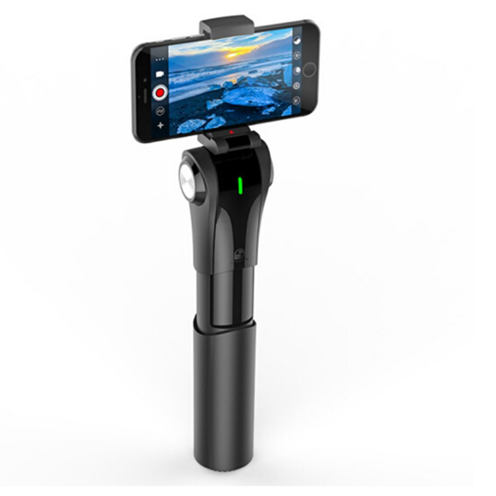 LIRONG Three Axis Mobile Phone Handheld Stabilizer, Mobile Smart Three-Axis Anti-Shake Pan/Tilt Handheld Shooting Panoramic Mode Bluetooth Connection Integrated Telescopic Folding Storage