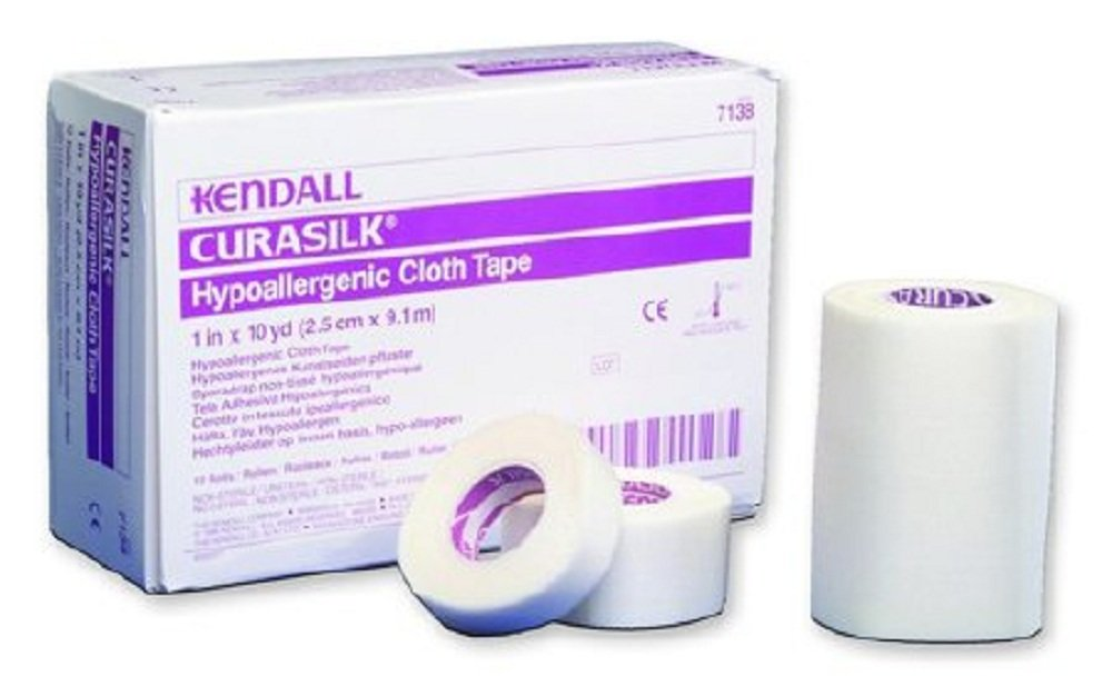 Kendall - Hypoallergenic - Medical Tape Kendall - Hypoallergenic Silk-Like Cloth 1 Inch X 10 Yard NonSterile - 120/Case - McK by Kendall Hypoallergenic