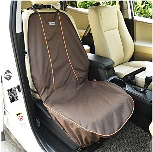 - Zero Dog Seat Cover For Front Seat For Cars Waterproof Nonslip Backing With Seat Anchors Durable Universal fits All Cars Pet Cover ZD-203, brown