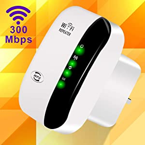 WiFi Range Extender, 300Mbps WiFi Repeater Wireless Signal Booster, 2.4GHz 360 Degree Full Coverage WiFi Extender Signal Amplifier with AP/Repeater Mode for Home Office