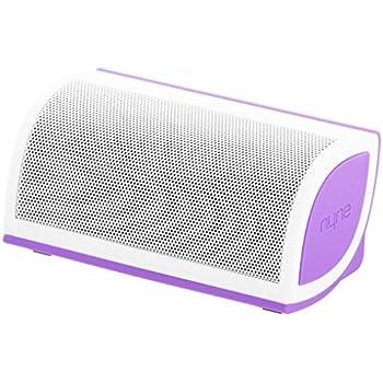 NYNE Multimedia Inc Mini Portable Bluetooth Speaker (White/Purple)