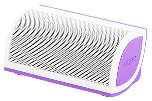 Amazon Lightning Deal 55% claimed: NYNE Multimedia Inc Mini Portable Bluetooth Speaker (White/Purple)