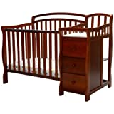 Dream On Me Casco 4 in 1 Mini Crib and Dressing Table Combo, Espresso