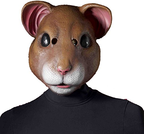 Forum Novelties Latex Hamster Mask, Brown, One Size ()