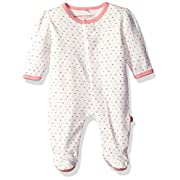 Magnetic Me by Magnificent Baby Baby Girls' Magnetic Lovebird Dot Footie, Pink, 6-9M