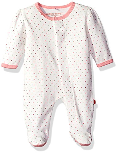 Magnetic Me by Magnificent Baby Girls Lovebird Dot Footie, Pink, New Born