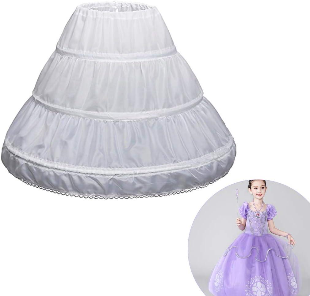 OULII Jupon de Robe de c/ér/émonie pour Enfants Crinoline Petticoat de Filles