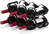 Mango Steam 6 Bottle Countertop Wine Rack, (Black)