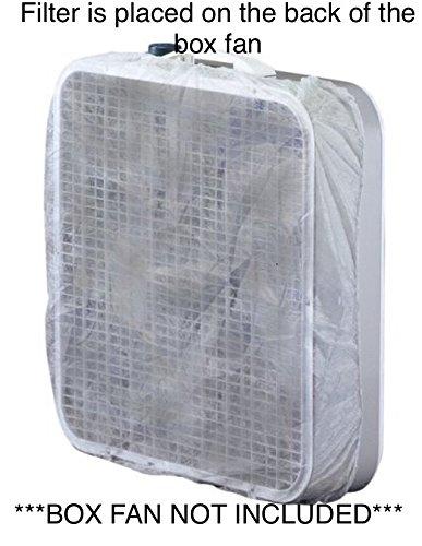 Northwest Enterprises Box Fan Filter For 20 Inch Box Fan, Disposable, 60 Day Filtration (Set of 2): Box Fan Not Included
