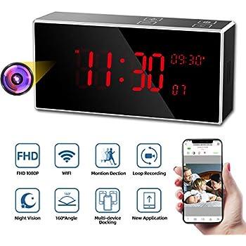 SecureGuard 720p HD RCA Alarm Clock Spy Nanny Hidden Camera