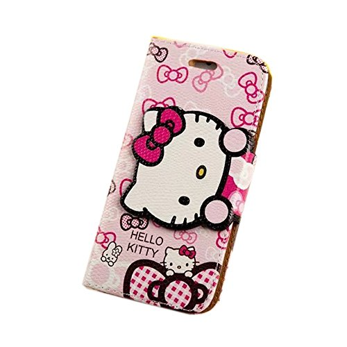 462d54c97 iPhone 6S Plus Case,iPhone 6S Plus Kickstand Case,Tribe-Tiger Cute Hello  Kitty Pattern Flip Leather Wallet With Soft TPU Stand Case Cover Skin for  Apple ...