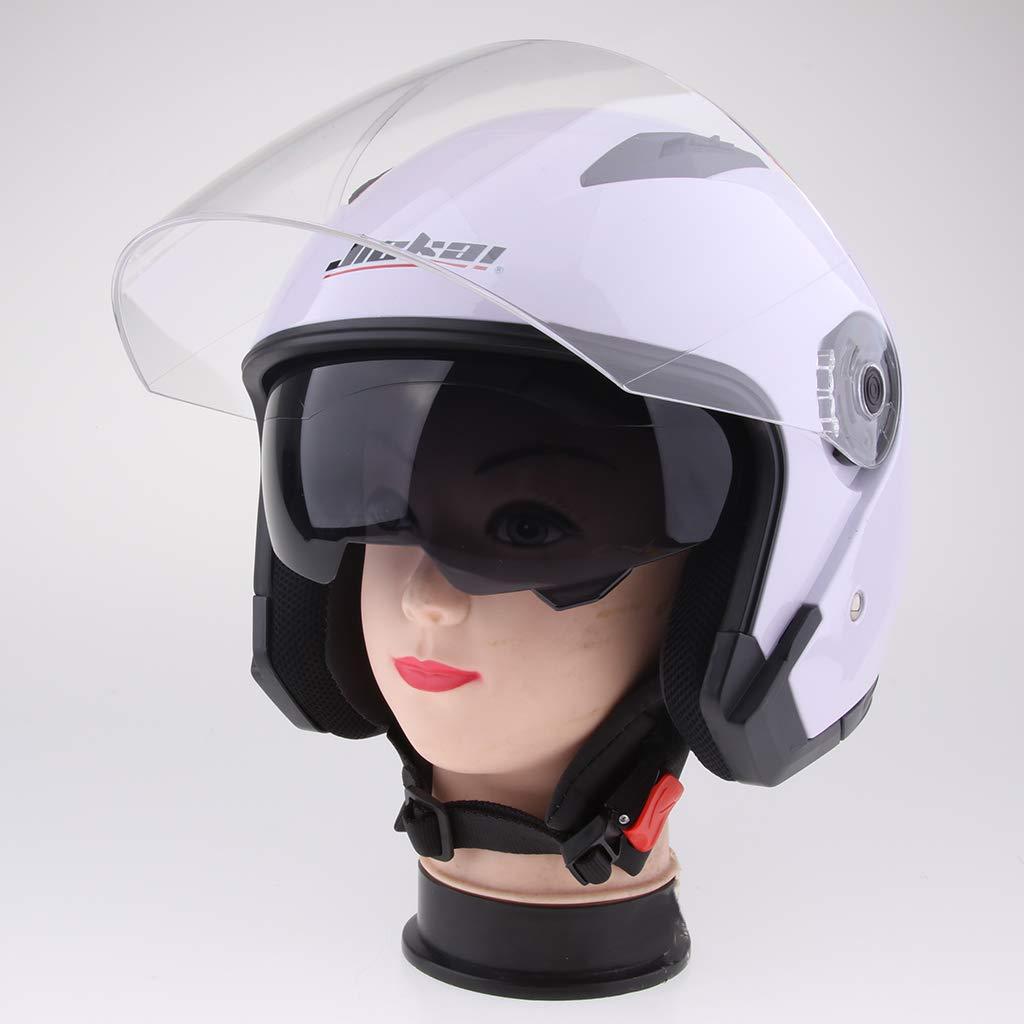 Gris XL Sharplace Casco de Cara Abierta Motocicleta 3//4 Con Visera Completa Unisexo Motociclista