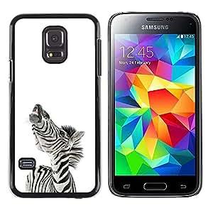 EJOY---Cubierta de la caja de protección la piel dura para el / Samsung Galaxy S5 Mini, SM-G800 / --Zebra Sonreír divertido