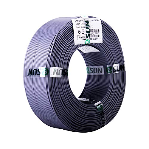 eSUN 1.75mm Gray PLA PRO (PLA+) 3D Printer Filament 1KG Refills (2.2lbs) for eSUN spools only