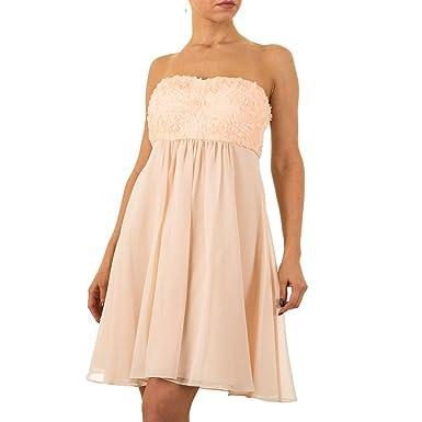 5ebfd46be58 Damen Kleid Vera Mont Chiffonkleid Cocktailkleid Abendkleid Ballkleid  Abikleid Partykleid Festliche Kleider Apricot 32  Amazon.de  Bekleidung