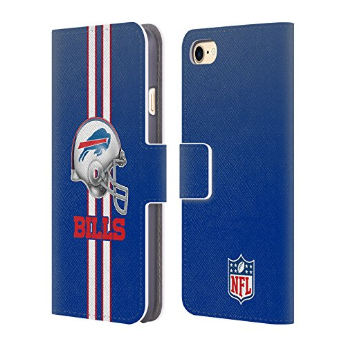 Card Credit Bills Buffalo (Official NFL Helmet Buffalo Bills Logo Leather Book Wallet Case Cover for iPhone 7 / iPhone 8)