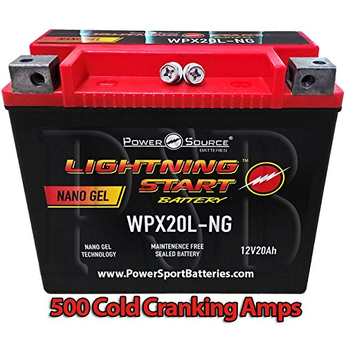 Harley FLSTF Fat Boy Softail 1340, 1450, 1584, 1690 500cca Lightning Start 20ah High Performance Sealed AGM Motorcycle Battery replacement for year 1991, 1992, 1993, 1994, 1995, 1996, 1997, 1998, 1999, 2000, 2001, 2002, 2003, 2004, 2005, 2006, 2007, 2008, 2009, 2010, 2011, 2012, 2013, 2014 Harley Fat Boy