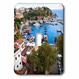 3dRose Danita Delimont - Cities - Turkey, Antalya, Southwest Mediterranean coast with Taurus Mountains. - Light Switch Covers - single toggle switch (lsp_277008_1)