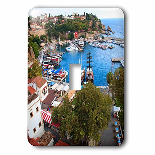 3dRose Danita Delimont - Cities - Turkey, Antalya, Southwest Mediterranean coast with Taurus Mountains. - Light Switch Covers - single toggle switch (lsp_277008_1) by 3dRose