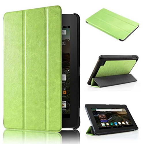 Price comparison product image Fire HD 7 Case,GOTD Kindle Fire HD 7 Tablet Case Full-body Protective Case Cover,Ultra Slim Leather Case Stand Cover, Impact Resistant Bumper with Magnetic Lock (Green)