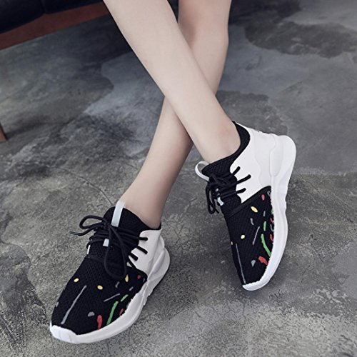 Shoes Shoes Casual Sports Lacing Shoes Summer Net Women Shoes Breathable Shoes Surface Female Leisure Black Slip Bovake Sneakers Casual Shoes Female Flat On Fashion Mesh FpqO6zwc