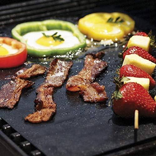 yitan Barbecue Electrique Housse Barbecue Grill Tapis Réutilisable Antiadhésif BBQ Cuisson Tapis De Cuisson Couvre Feuille Feuille BBQ Liner Outil 33 * 40 Cm 0.2 Mm Épaisseur