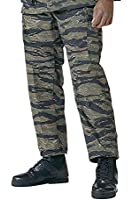 Camouflage Military BDU Pants, Army Cargo Fatigues (Tiger Stripe Camouflage)