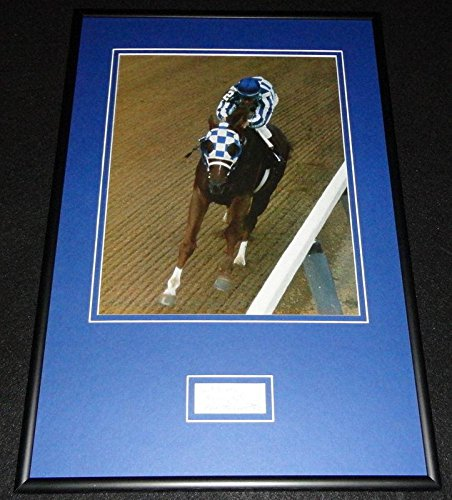 Ron Turcotte Signed Framed 12x18 Photo Poster Display Secretariat - JSA Certified - Autographed Horse Racing Miscellaneous Memorabilia (Autographed Miscellaneous Photos)