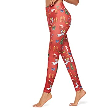 Pantalones De Yoga,Moda Cartoon Navidad Muñeco De Nieve Elk ...