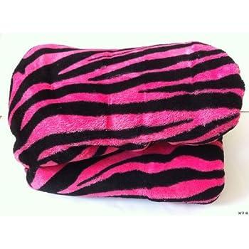 Queen Zebra Fleece Blanket Black Pink Soft Plush Animal Print Microfiber Throw Blankets