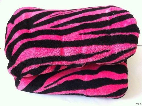 amazon com queen zebra fleece blanket black pink soft plush animal